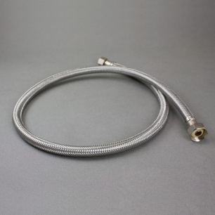 "24"" Braided Stainless Steel Faucet Connector, 3/8"" Compression X 1/2"" FIP"