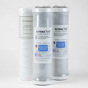 "Filter Pack - Utility Grade, for Axeon 10"" 300 GPD RO"