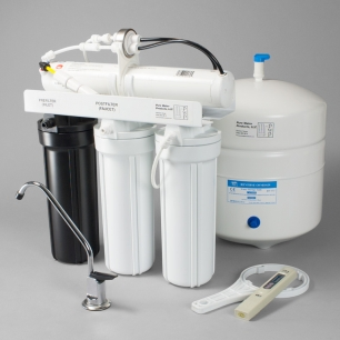 Black & White: 50/50 Series Reverse Osmosis Unit - 4 Stage