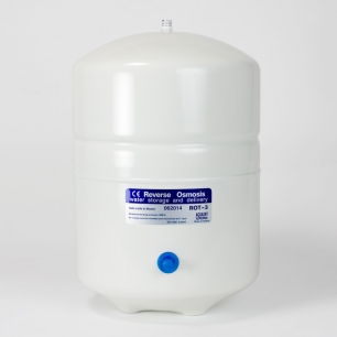 "Mid-Sized White Metal Tank - 8.5"" X 13.5"""