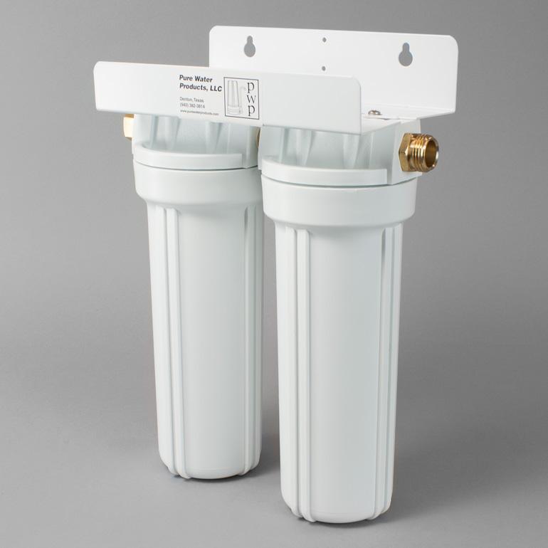 Double White Garden Hose Filter