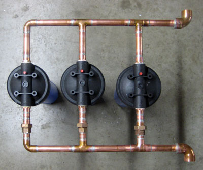 High flow filters on a low budget pure water products llc for Whole house plumbing trap