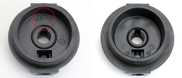 A comparison of UV1 caps.