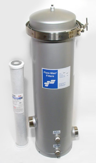 Stainless Steel 4-Cartridge Whole House Filter